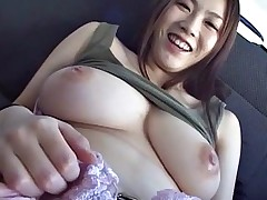 Subtitled Japanese big breast BBW play with..