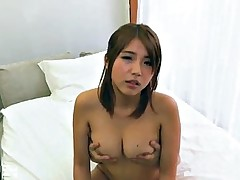 Asian goddess gets her hairy fanny filled with cum