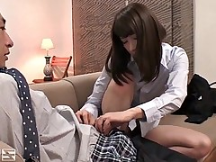 Asian sweetie with a hairy muff gets drilled hard