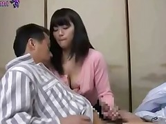 Busty Asian minx gets a deep cock plowing