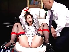 Sexy Asian cutie has her pussy fingered
