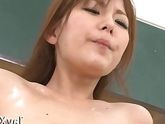Asian babe gets to be fucked by her man