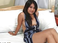 Horny young Filipina babe Alexa fucks strange..