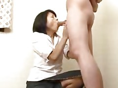 Japanese Granny Sucks Swallows & Squirts..