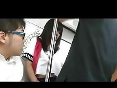 School Girl Kotomi Asakura Used on Train..