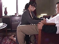 Office slut sucks and titty fucks guy's..