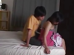A Japanese Mother Lets Him Fuck Her !