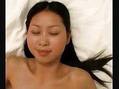 Tight asian amateur gets fucked by white bfs big..