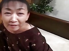 54yr old Hairy Japanese Granny still Craves Cum..
