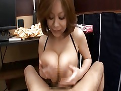 Rin Kajika Makes A Guy Cum Between Her Tits