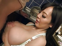 Busty asian tit fucking a japanese guy