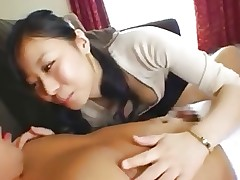 Ultimate Asian women sucking on men's..