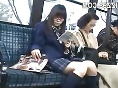 schoolgirl attracted and penetrated by geek on bus