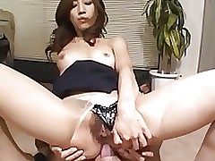 smoking clammy japanese secretary Rina Himekawa..